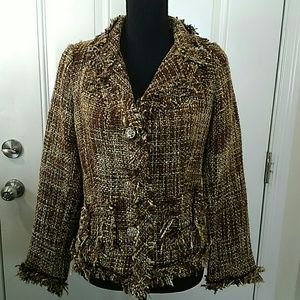 Connection 18 acrylic jacket with brown tones